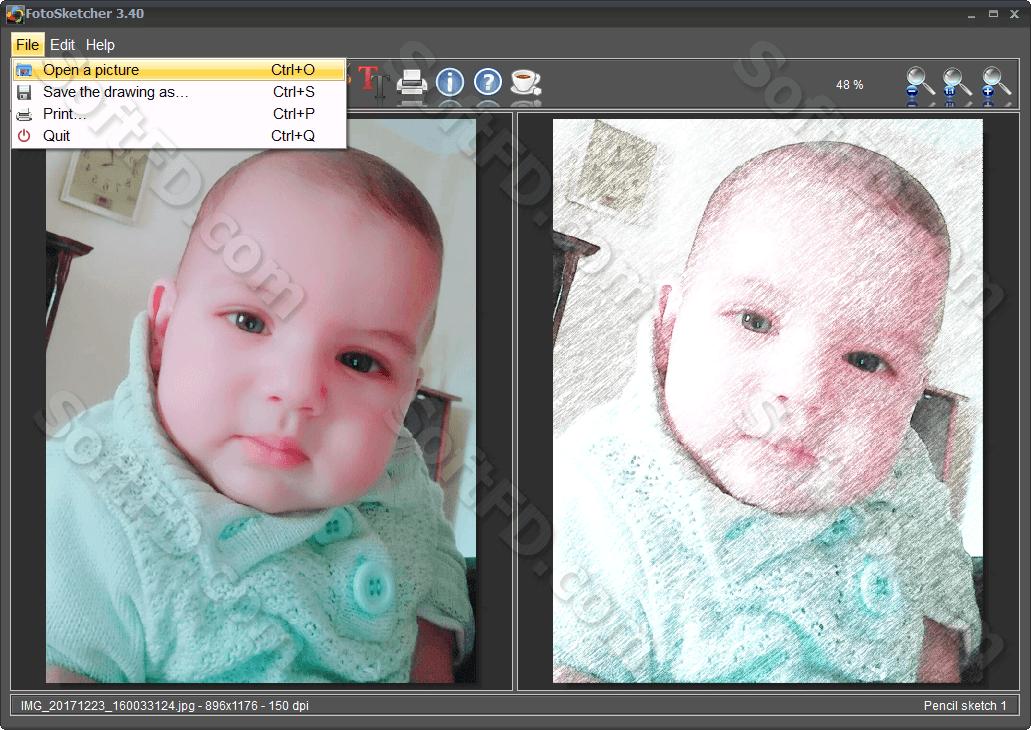 تحميل برنامج fotosketcher